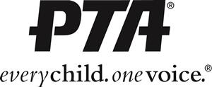 PTA logo. Every child. One voice.
