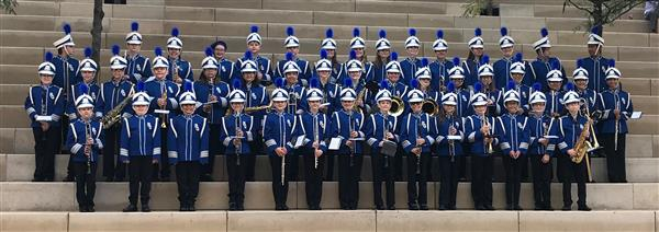 Group picture of River Grove School Band.